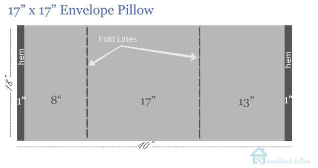 Envelope pillow 17x17