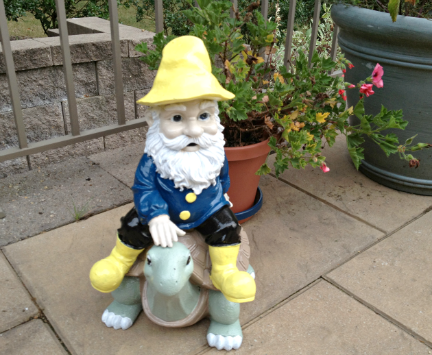 Garden Gnome-After Makeover