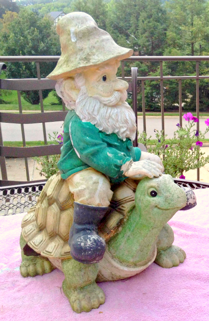 Garden Gnome Before Makeover