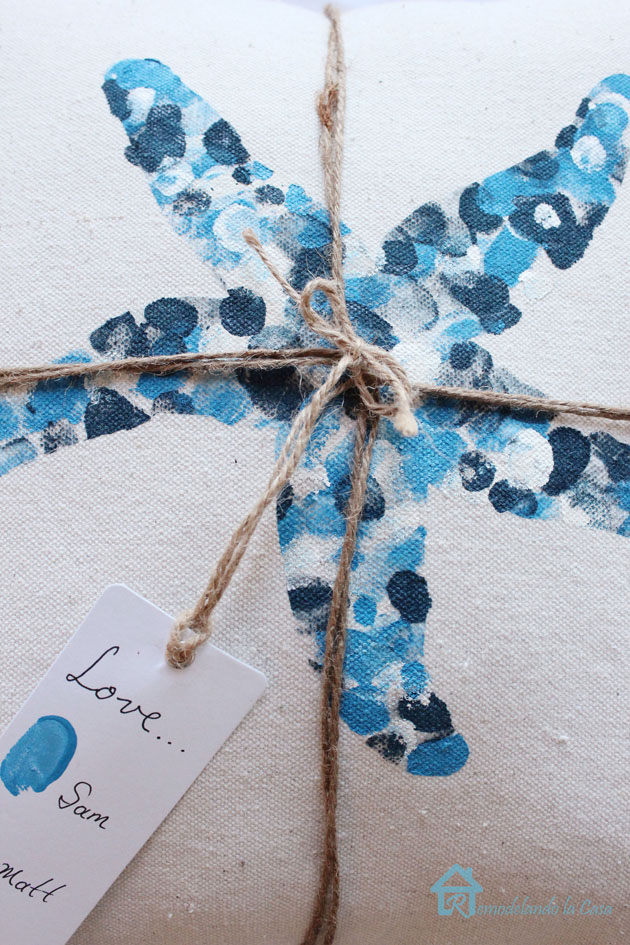 Thumbprint starfish pillow2 with tag