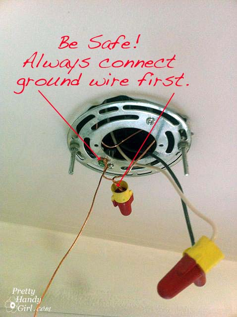 How to install a hard wired pendant light pretty handy girl connectbaregroundwires aloadofball Gallery
