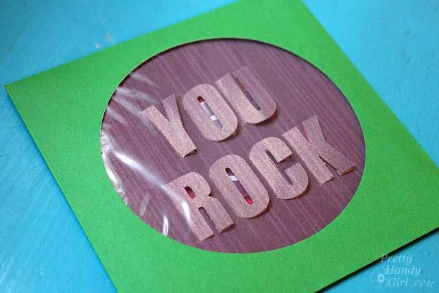You Rock 3-D Card   Pretty Handy Girl