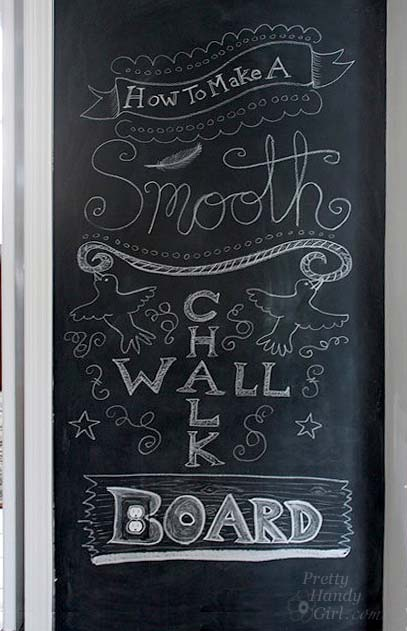 How to make a smooth chalkboard wall for imperfect walls for How to paint a wall with chalk paint