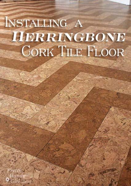 Installing cork tile flooring in the kitchen pretty handy girl installingherringbonecorkfloor solutioingenieria Image collections