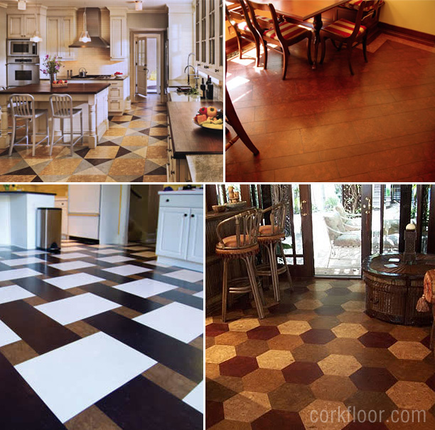 Kitchen floors how i decided to use cork tiles pretty Kitchen flooring ideas photos