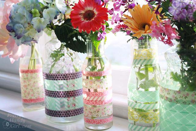 Hostess Gift Ideas Washi Tape Vase