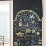 How to Make a SMOOTH Chalkboard Wall {For Imperfect Walls}