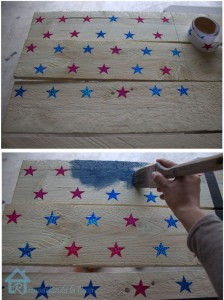 White-Washed Patriotic Flag Sign Tutorial
