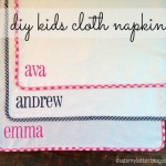 DIY Kids Cloth Napkins Tutorial