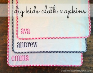 kids cloth napkins