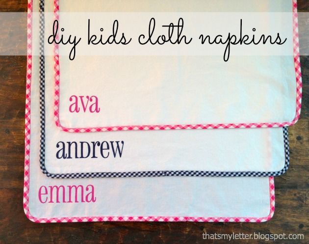 DIY Kids Cloth Napkins Tutorial - Pretty Handy Girl