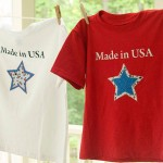Made in USA Star Shirts using Silhouette Interfacing