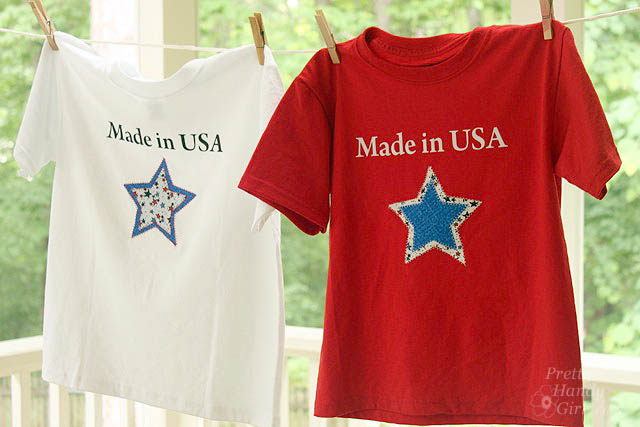 easy sewing projects to help you learn to sew - made in usa star shirts