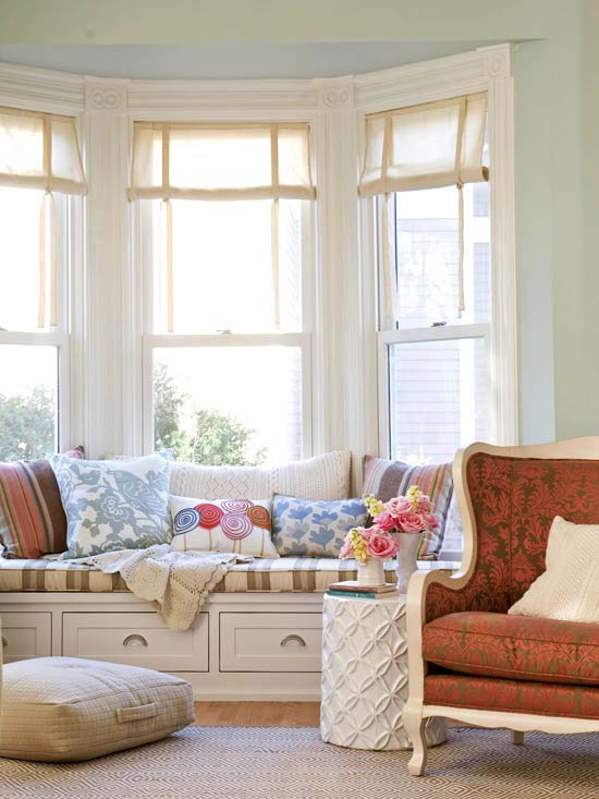bay window seat with drawers the