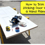 How to Trim a Sticking Door with a Power Planer