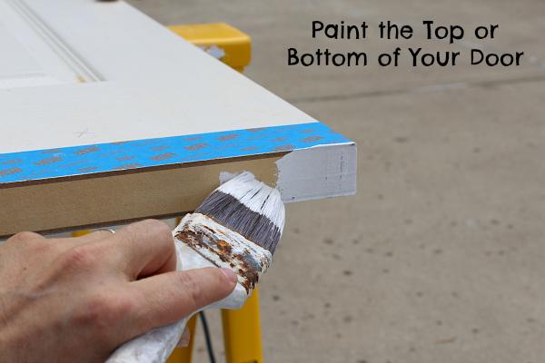 Paint the top or bottom of your door