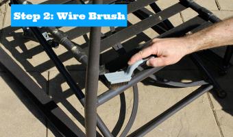 Step 2 Wire Brush
