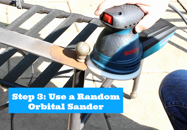 Step 3 Use a Random Orbital Sander