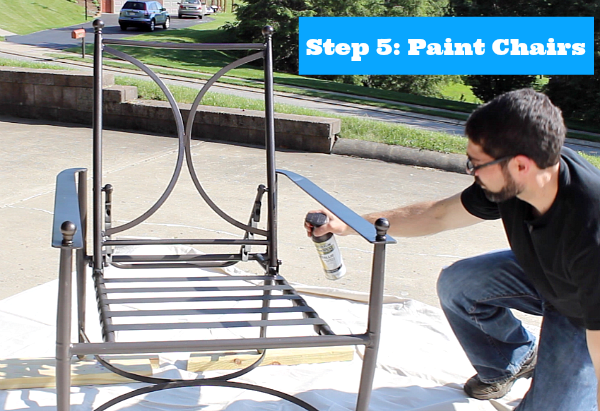 spray painting metal furniturePainting Metal Patio Chairs 5 Easy Steps to an Awesome Makeover