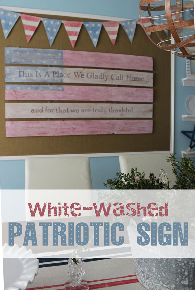 White-Washed Patriotic Sign