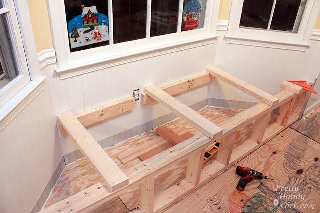 bay window storage bench plans