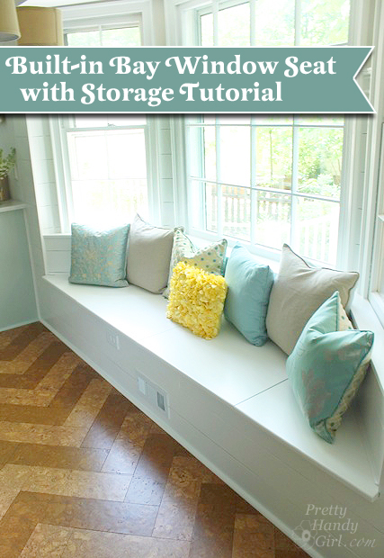 building a window seat with storage in a bay window - Bay Window Seat