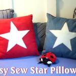 Easy DIY Patriotic Star Pillows