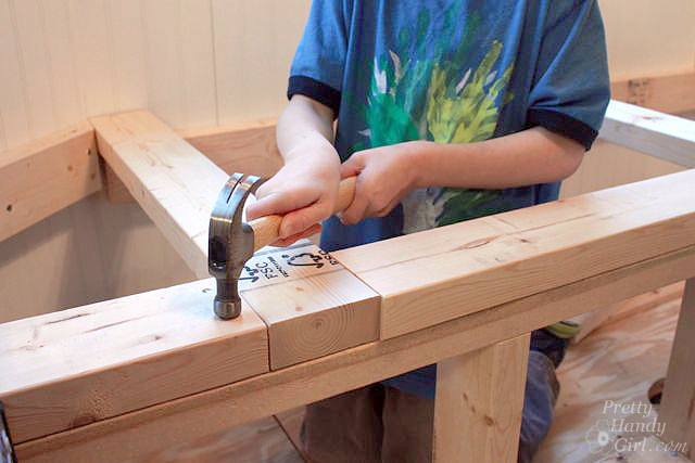 hammer_top_plate_onto_bench