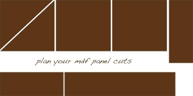 plan mdf panel cuts