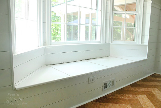 Bay Window Bench Custom Building A Window Seat With Storage In A Bay Window  Pretty Handy . Decorating Design