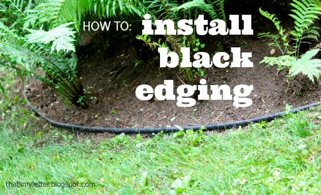 How To Install Landscape Bed Black Edging Pretty Handy Girl
