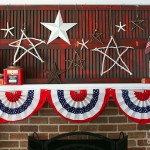 A Lazy Girl's Patriotic Summer Mantel