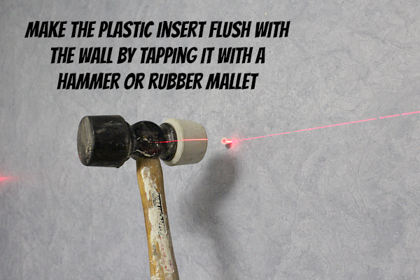 Making the Plastic Insert Flush with the Wall