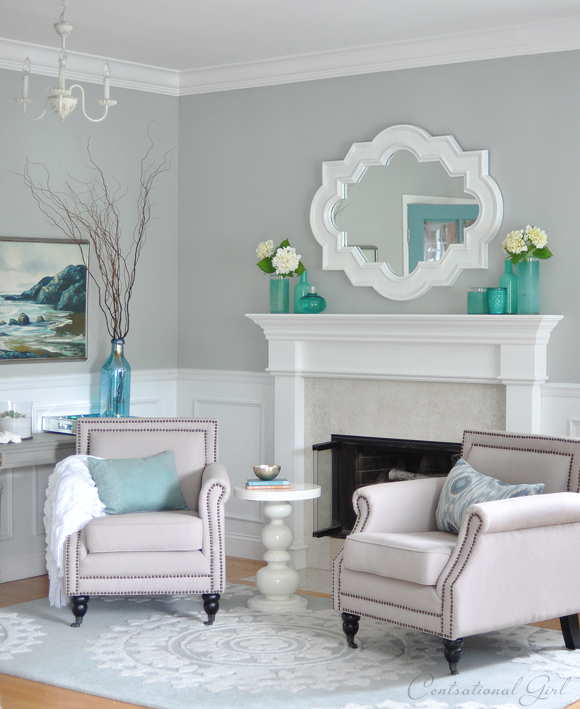 25 dreamy blue paint color choices pretty handy girl for Tiffany blue living room ideas