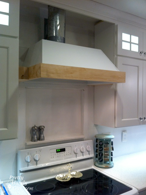 Wood Range Hoods Cabinets ~ How to build a custom wood range hood pretty handy girl