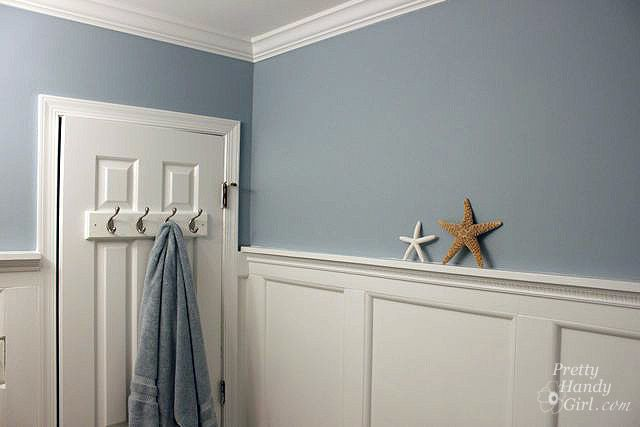 Chair rail paint ideas nursery - Benjamin Moore Gentle Gray Benjamin Moore Slate Blue