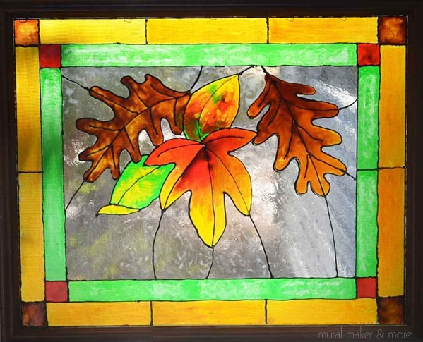 faux-stained-glass-window-leaves
