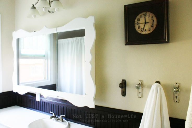 Superb Dressed Up Bathroom Mirror Amazing DIY Mirrors