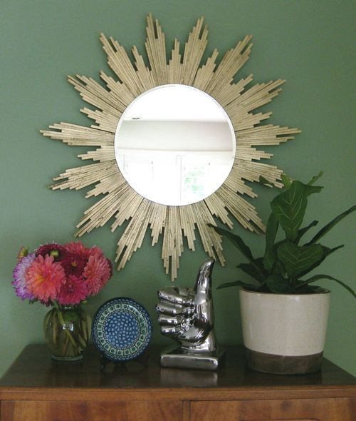 30 amazing diy decorative mirrors pretty handy girl diy sunburst mirror 30 amazing diy mirrors solutioingenieria Image collections