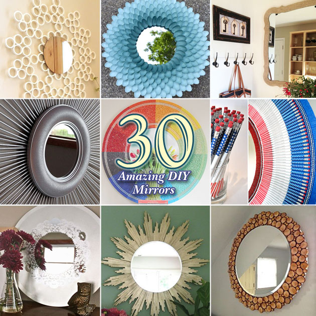 30 Amazing DIY Decorative Mirrors - Pretty Handy Girl