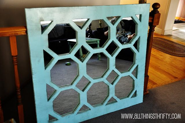 DIY Unique Turquoise Mirror | 30 Amazing DIY Mirrors