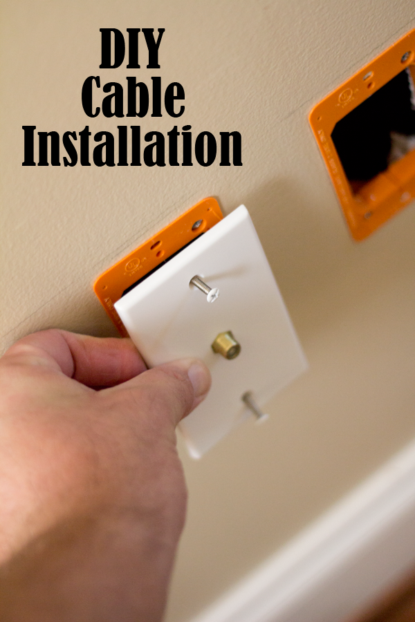 DIY Cable Outlet Installation