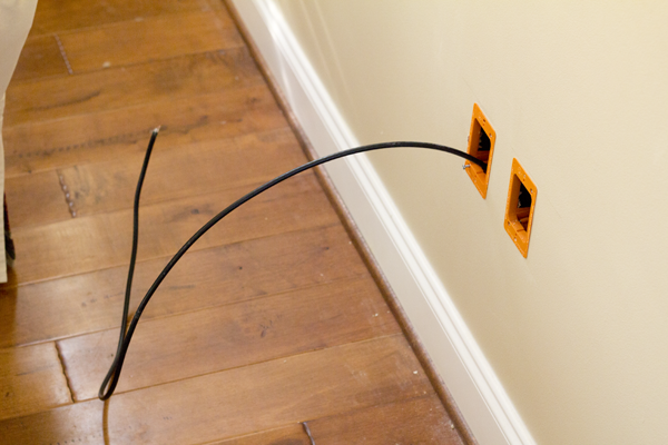 Cable Wall Outlet : Diy cable installation pretty handy girl