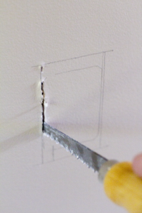 Cutting Drywall With a Keyhole Saw