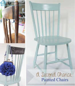 a second chance - painted chairs