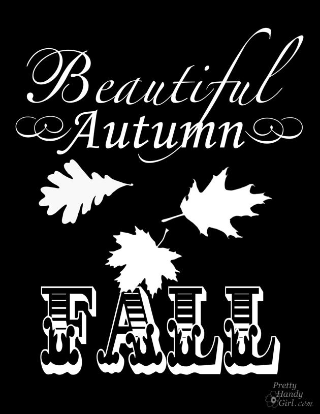 Chalkboard Autumn Free Printable - Autumn Mantel Décor and Vignettes | Pretty Handy Girl