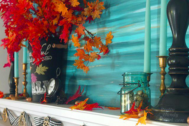 Autumn Mantel Décor and Vignettes | Pretty Handy Girl