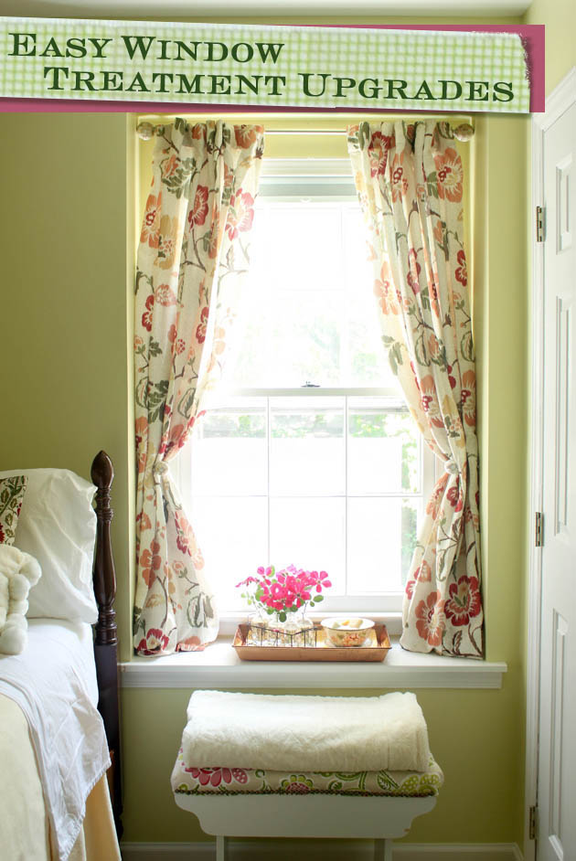 Easy Window Treatment Upgrades | Pretty Handy Girl