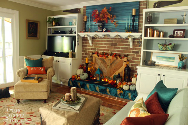 Autumn Mantel Dcor And Vignettes