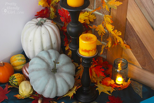 Autumn Mantel Décor and Vignettes | Pretty Handy Girl